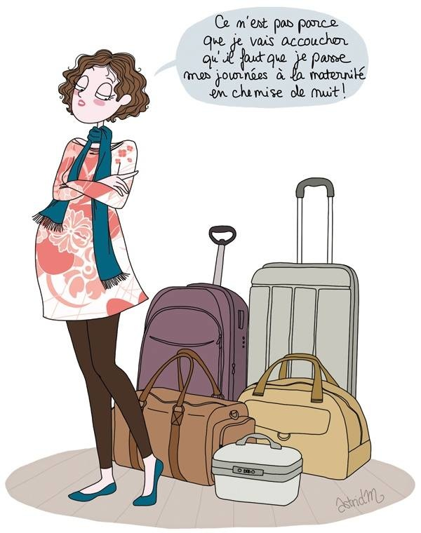 le trousseau du b b et la valise pour la maternit rachel halimi. Black Bedroom Furniture Sets. Home Design Ideas